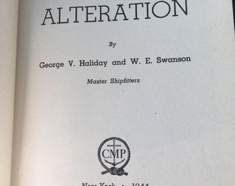 1940's hardcover book about boat repair...free shipping !!