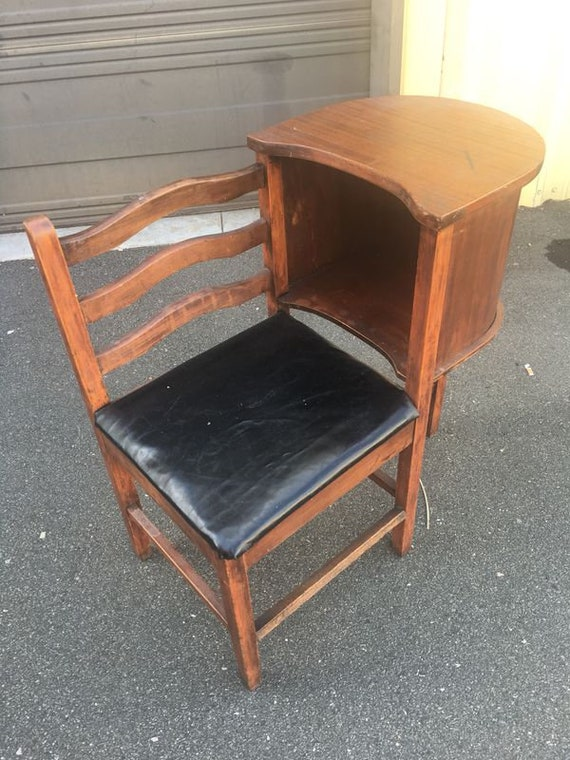 image 0 - Antique Telephone Seat Table...Local Pick Up Etsy