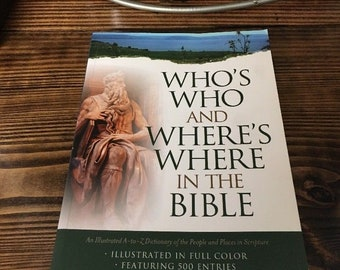 "copy of ""Who's Who and Where's Where in the Bible""....FREE shipping !!"