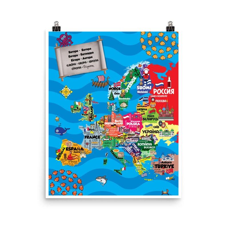 Children's Multilingual Map Europe & Beyond  various image 0