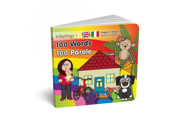 100 First Words  ITALIAN: children's dual language / image 0