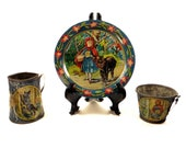 Tin Litho Red Riding Hood Tea Set - Ohio Art Tin Litho - Little Red Riding Hood