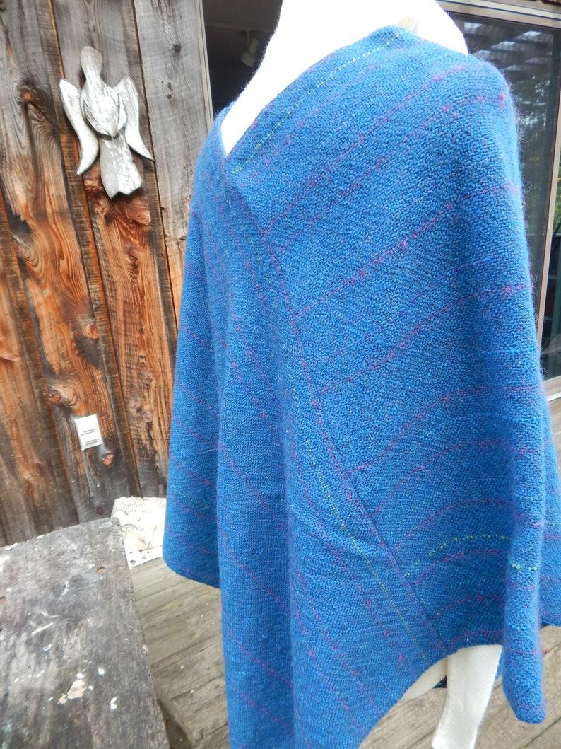 Hand Woven Wool Poncho