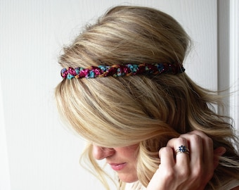 Crochet Boho Headband Braided Hippie Hair Accessory