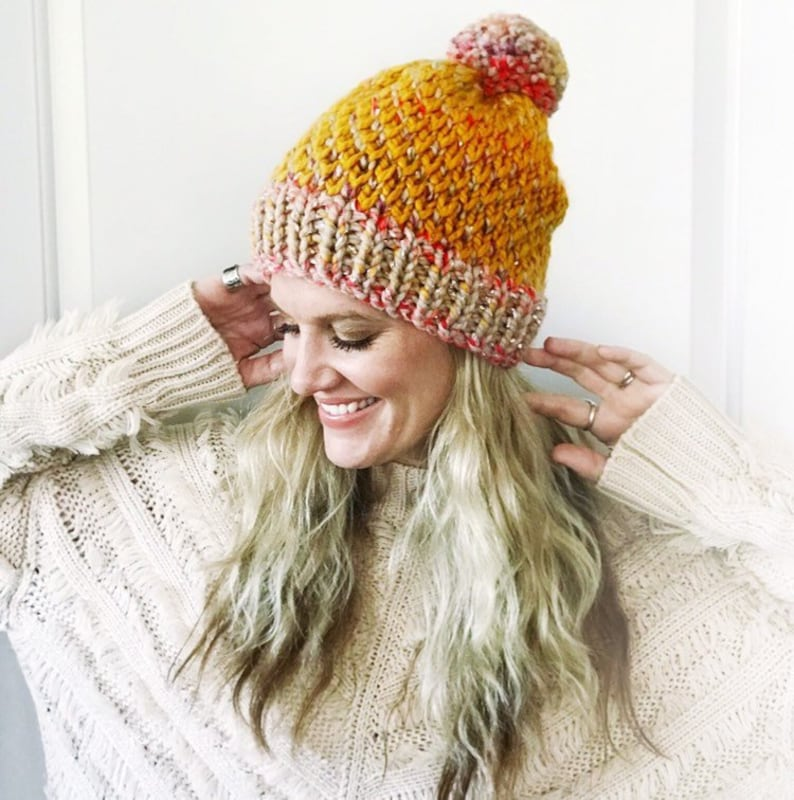 BEANIE KNITTING PATTERN / Knitted Toque /Easy Knit Pattern ...