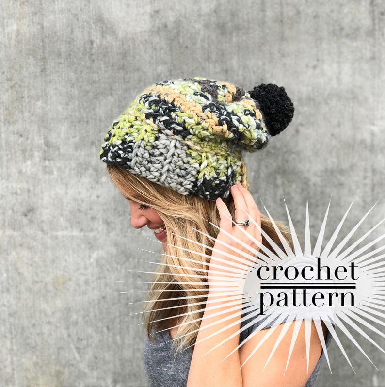 def8d8effe2 Free Perfect Easy Chunky Crochet Beanie Pattern Using - Amatcard.co