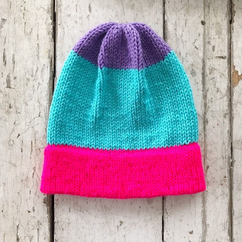 EASY KNIT PATTERN / Beanie Knitting Pattern / Knitted ...