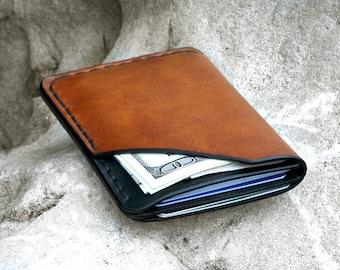 178f1fa3fb Portafoglio tascabile di piccole dimensioni, molto pratico e sottile. Porta  carte di credito frontali per un accesso veloce.