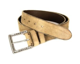 Gold Aged Leather Belt, Mens Leather Belt, Womens Leather Belt, Distressed Belt, Vintage Belt, Sturdy Belt, Gold Belt, Custom Belt