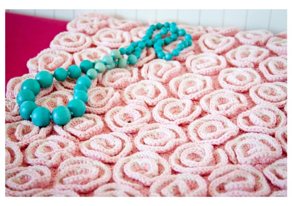 Crochet Baby Blanket Pattern Unique Rose Blanket Afghan Bed Etsy