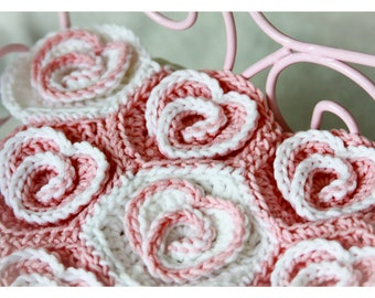 Crochet blanket pattern, ''Heart blanket'', afghan, bed cover - PDF Crochet PATTERN, Digital file, DIY, Tutorial, Glorious Unique