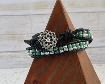Boho double wrap bracelet Sundance style Fair Trade Bracelet woman's gift