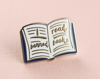 Banned Books Enamel Pin -  Book Enamel Pin Badge - Literature Jewellery - Gift for Book Lover - Reading Pin  - Bookish Enamel Pin