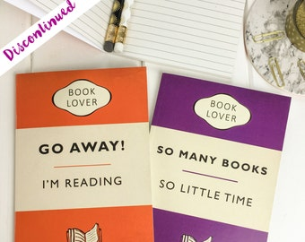 SALE - Book Lover A6 Notebook Set - Gift for readers, writers and book lover - Classic Book Cover - Pocket Notebooks - Notepad Jotters