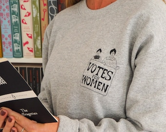 Votes for Women Sweatshirt - Feminist Sweater - The Suffragettes - Girl Power Tee Shirts - Slogan Sweatshirt- Feminism - Oversized Jumper