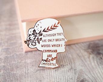 Sappho Enamel Pin - Women Poets Pin Collection -Book Lover - Feminist Pin - Literature Gift - Lapel Pin - Bookish Pin Badge - LGBT