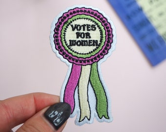 Votes for Women Embroidered Iron on Patch - Jacket Patch - Gift for Book Lover - Sew on Patch - Feminist