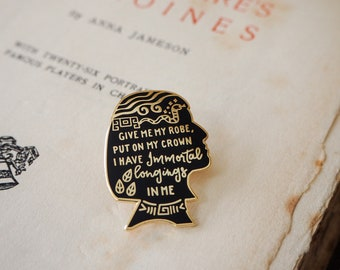 Cleopatra Enamel Pin - Shakespeare's Heroines Collection - Book Lover - Feminist Pin - Shakespeare - Literature Gift