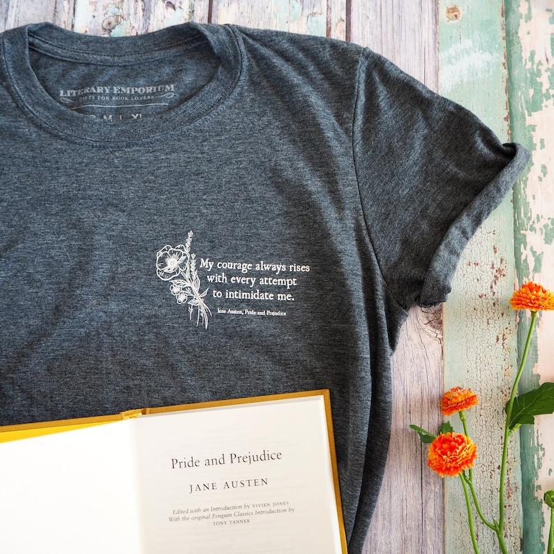 43bd68b1 Pride and Prejudice T-shirt Jane Austen T-shirt Feminist   Etsy