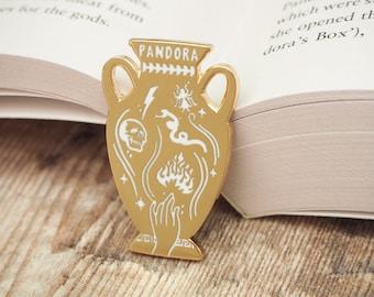 Pandora's Jar Enamel Pin – Greek Mythology Collection - Book Pin Badge - Feminist Pin - Literature Gift - Dark Academia
