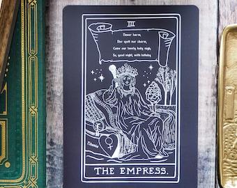 Titania Tarot Card Mini Print - The Empress - Shakespeare Tarot Collection - Tarot Deck - Shakespeare Print - A Midsummer Nights Dream