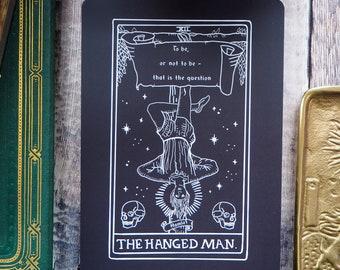 Hamlet Tarot Card Mini Print - The Hanged Man - Shakespeare Tarot Collection - Tarot Deck - Postcard - Shakespeare Print
