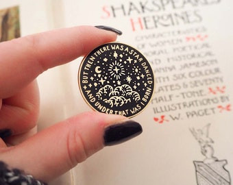 Beatrice Enamel Pin - Shakespeare's Heroines Collection - Much Ado About Nothing - Star Pin Badge - Book Lover - Feminist Pin - Literature