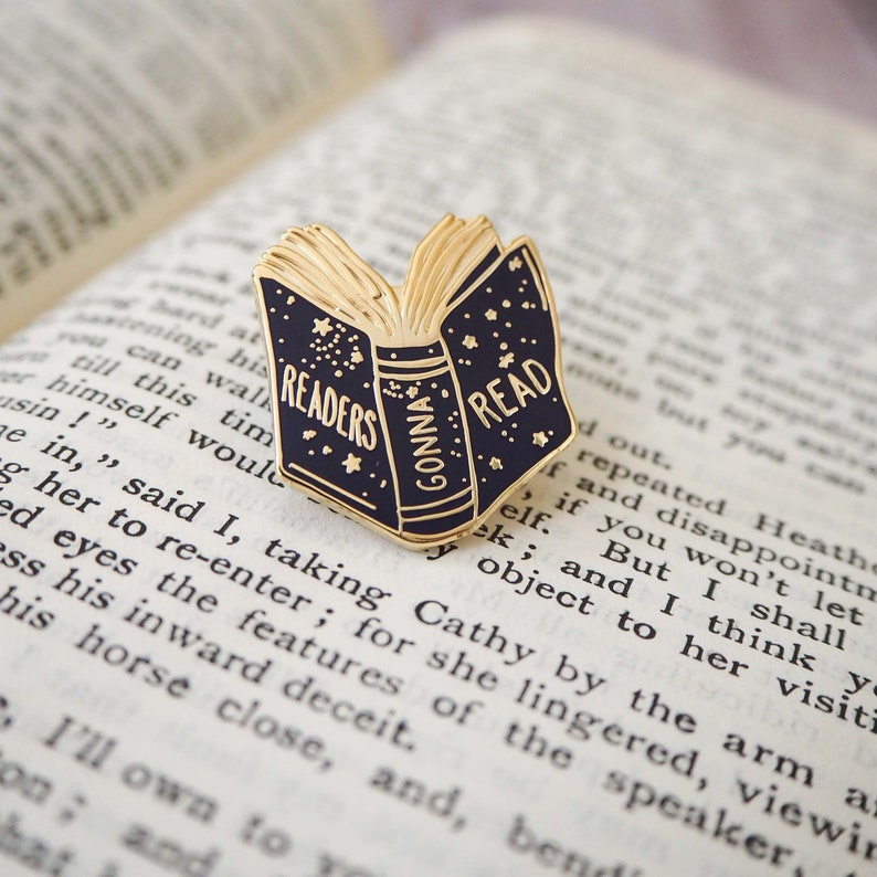 Readers Gonna Read Book Enamel Pin  Enamel Pin Quote  Enamel image 0