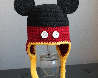 Mickey Mouse Hat with Earflaps