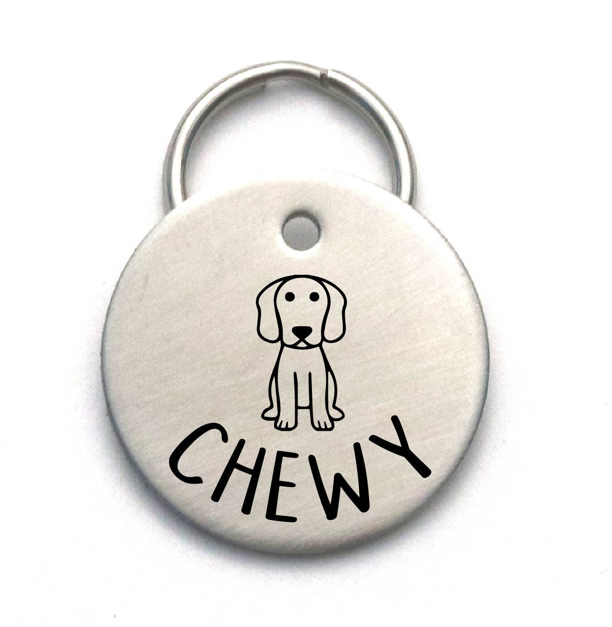be6f08d5ba22 Stainless Steel Engraved Dog Tag Unique Custom Pet ID | Etsy