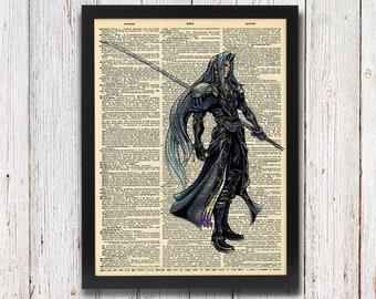 Final Fantasy VII Sephiroth Dictionary Art