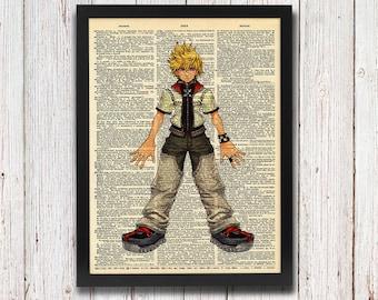 Kingdom Hearts Roxas Dictionary Art