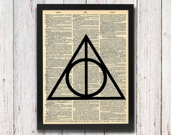 Harry Potter Deathly Hallows Symbol Dictionary Art