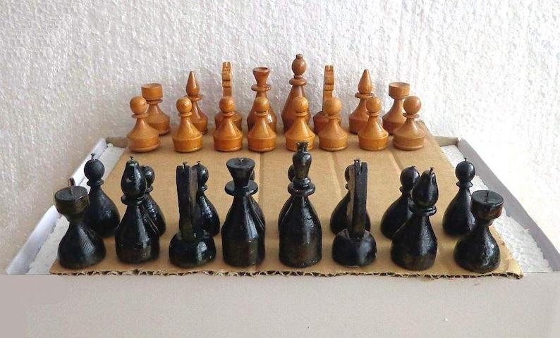 alennus uudet alhaisemmat hinnat tukkuhinta Vintage Wooden Chess Set for the Blind. Wood Chess for blind. Blind People  Wood chess set. Travel traveling chess. Vintage wood chess pieces