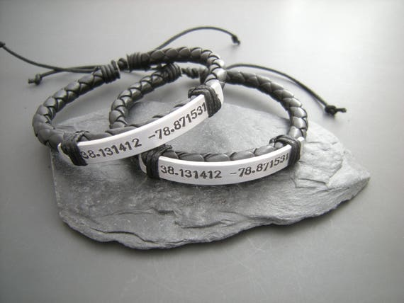 Two Matching bracelets Boyfriend Girlfriend Gift Set of TWO