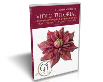 VIDEO TUTORIAL How to make a leather  flower, Clematis Josefine DIY, millinery,leather flower,leather flower tutorial,leather flower pattern