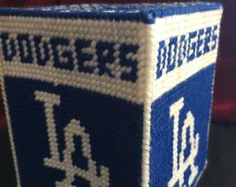 Dodgers tissue box holder