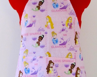 Kids Apron - Pink is for Princess Childrens Apron - Childs Apron - Kitchen Accessory