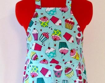 Kids Apron - Copious Cupcakes Childrens Apron - Childs Apron - Kitchen Accessory