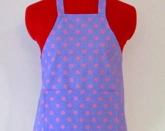 Kids Apron - Polka Dots Childrens Apron - Childs Apron - Kitchen Accessory