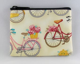 Bicycle Coin Purse - Coin Bag - Pouch - Accessory - Gift Card Holder