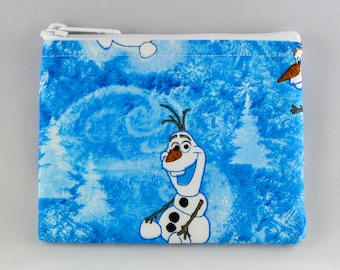 Olaf Coin Purse - Disney Frozen - Coin Bag - Pouch - Accessory - Gift Card Holder
