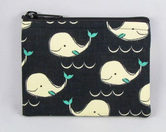 Whales Coin Purse - Coin Bag - Pouch - Accessory - Gift Card Holder