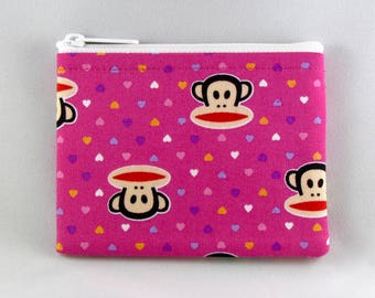 Paul Frank Monkeys Coin Purse - Julius the Monkey - Coin Bag - Pouch - Accessory - Gift Card Holder