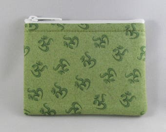Green OMantra Coin Purse - Coin Bag - Pouch - Accessory - Gift Card Holder