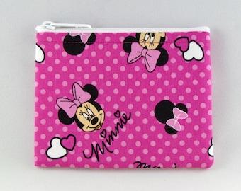 Polka Minnie Dot Coin Purse - Coin Bag - Pouch - Accessory - Gift Card Holder