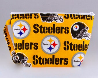 Pittsburgh Steelers Makeup Bag - Sports Teams - Accessory - Cosmetic Bag - Pouch - Toiletry Bag - Gift