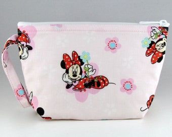 e97bc14da9 Marvelous Minnie Mouse Makeup Bag - Accessory - Cosmetic Bag - Pouch - Toiletry  Bag - Gift
