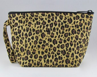 9a4ac3758a Cheetah Print Makeup Bag - Accessory - Cosmetic Bag - Pouch - Toiletry Bag  - Gift