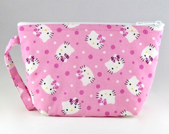 Pink Hello Kitty Makeup Bag - Accessory - Cosmetic Bag - Pouch - Toiletry Bag - Gift